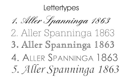 AS Gravures Lettertypes